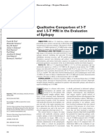 Qualitative Comparison of 3-T and 1.5-T MRI in the Evaluation of Epilepsy