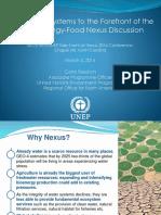 UNEP Presentation for Nexus Side Event - 5 March 2014 - North Carolina - FINAL