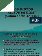 Los Juicios Rectos de Dios
