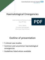 Dr Fiona Dignan - Acute Haematological Emergencies