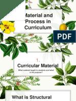 Materials and Processes in Curriculum
