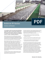 Robicon W Seismic Certification Brochure