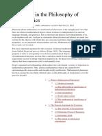 Platonism in the Philosophy of Mathematics