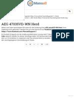 Anleitung - AEG 47035VD-WN Herd