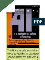 MIGUEL ÁNGEL BARRÓN GAVITO PRESENTACIÓN.  REEDICIÓN DEL LIBRO LOS 41.