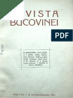Revista Bucovinei anul I, nr. 1, ianuarie 1942