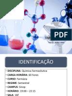 Aula 1 - Plano de Ensino Química Farmacêutica