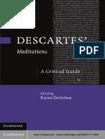 (Cambridge Critical Guides) Karen Detlefsen - Descartes' Meditations_ A Critical Guide-Cambridge University Press (2012).pdf