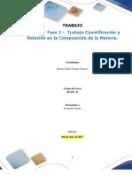 Formato entrega Trabajo Colaborativo – Unidad 2_ Fase 2 -  Trabajo Cuantificación y Relación en la Composición de la Materia.docx