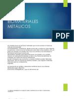 BIOMATERIALES  METÁLICOS 2