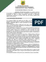 Edital de Taquarana Versão Final Publicar Retificado