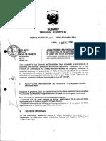 Resolucion del Tribunal Registral