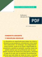 Conducta Del Docente y Disciplina Escolar