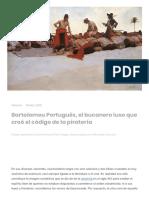 Bartolomeu Português, El Bucanero Luso Que Creó El Código de La Piratería