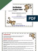 Grade 4 Math Multiplication Game Catch the Monkeys(1)