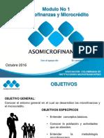 Modulo 1 Introducción Microfinanzas