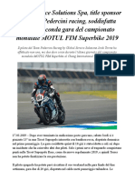 #GlobalServiceSolutions Soddisfatta Dopo La Seconda Gara Del MOTUL FIM Superbike 2019