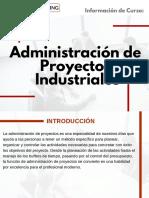 Curso Administración de Proyectos Industriales