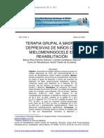 Terapia Grupal a Madres Depresivas de Niños Con Mielomeningocele en Rehabilitación