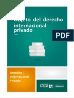 Objeto Del Derecho Internacional Privado