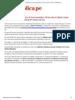 Ébola_ Cifra de Muertes Por El Virus Asciende a 20 Por Día en Sierra Leona - Imprimir _ LaRepublica