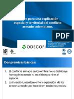 Esbozo para una explicación espacial y territorial del conflicto armado colombiano