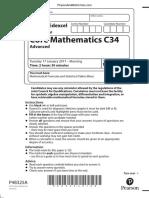 January 2017 (IAL) QP - C34 Edexcel