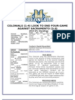 Hartford Colonials Week 7 Notes