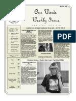 Newsletter Volume 10 Issue 11