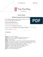 The Best Vocabulary and Word List | TopTestPrep.com