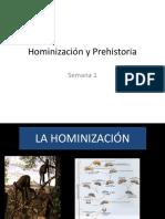 HUMANIZACION Y PREHISTORIA