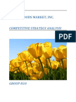 Whole Foods Market - Competitive Strategy Analysis