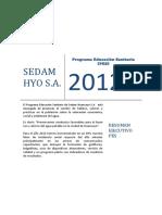 Resumen Ejecutivo del Programa de Educación Sanitaria 2012