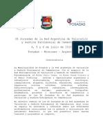 Convocatoria IX Jornadas Red Argentina de Valoración y Gestión Patrimonial de Cementerios 2019