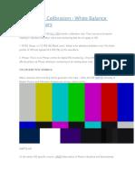 HD Monitor Calibration
