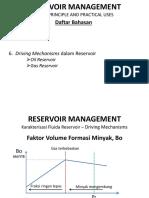RESERVOIR MANAGEMENT Bab 6 Driving Mechanisms Dalam Reservoir