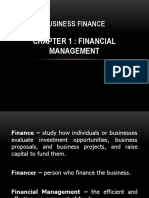 Business Finance Chapter 1