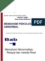 Psikologi Abnormal Dan Patologi Pertemuan 1