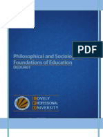 1 PHILOSOPHICAL AND SOCIOLOGICAL FOUNDATIONS OF EDUCATION.docx