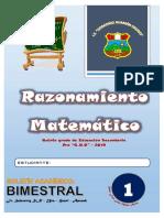 Razonamiento Matemático 5° - Bimestre I
