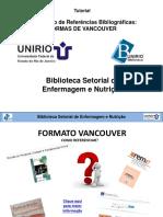 Elaboracao de Referencias Bibliograficas_Formato Vancouver_2016