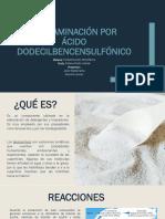 Contaminación Por Ácido Dodecilbencensulfónico