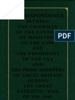 Correspondence DURING THE GREAT PATRIOTIC WAR OF 1941-1945 - Vol 1