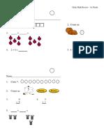 Daily Math Review Sheets Grade 1.pdf