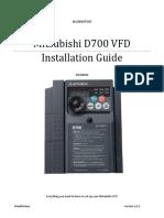 Mitsubishi D700 VFD Installation Guide V1.0.2