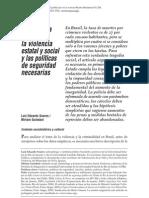 Violencia estatal y social y las políticas de seguridad necesaria en BRASIL
