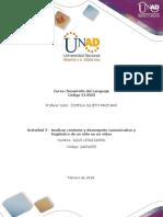 Formato Para La Elaboración de La Actividad 2 Analizar Contexto Y Desempeño Comunicativo Y Lingüístico de Un Niño en Un Video (3) - Saile Leguizamon