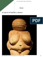 La Mujer en El Paleolítico y Neolítico