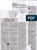 Daily Tribune, Mar. 21, 2019, Dialect to make poll difference.pdf