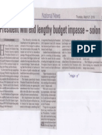 Manila Bulletin, Mar. 21, 2019, President will end lengthy budget impasse - solon.pdf